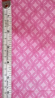 Pink Diagonal Circle Plaid