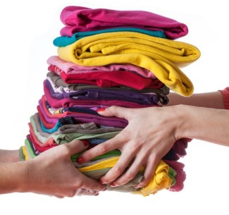 stack of clothes hand to hand