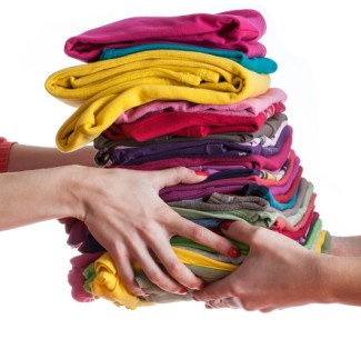 stack of clothes hand to hand going back