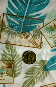 Turquoise, Fern,Cocoa Print on White