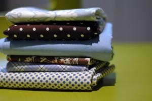 fabrics in pile