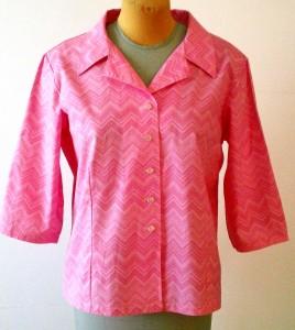 3/4 Sleeve Pink Chevron