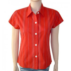 blouse with single point collar